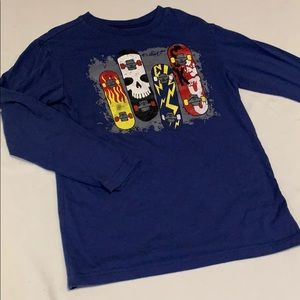Boys long sleeve 🛹 skateboard Tshirt - size 7/8